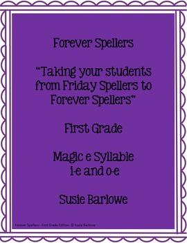 Spelling - Magic e Syllable for i-e and o-e - 1st Grade