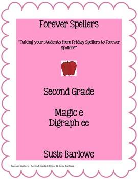 Spelling - Magic e for e-e and Digraph ee - 2nd Grade