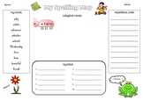 Spelling Map - wh words + sight words