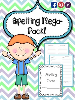 Spelling Mega Pack Everything you need for spelling tests this year!