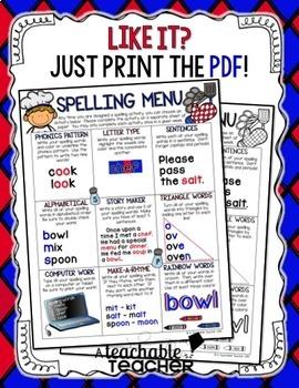 Spelling Menu {Editable}