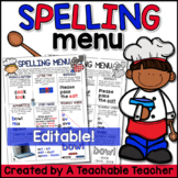 Spelling Menu {Editable}