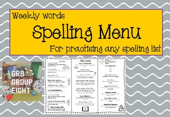 Spelling Menu - A fun way to pracise sight, commonly used or for any word list!