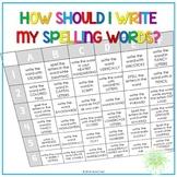 Spelling Menu - Activities to Make Spelling Fun