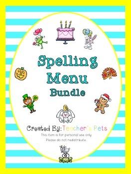 Spelling Menu Bundle