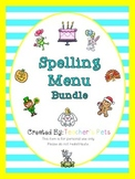 Spelling Menu Bundle