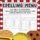 Spelling Menu - Diner Style