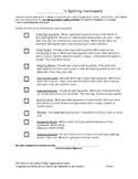 Spelling Menu Form 1