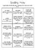 Spelling Menu Homework
