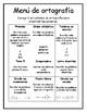 Spelling Menu/Menú de ortografía