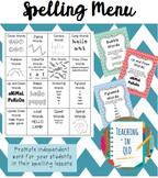 Spelling Menu Words Their Way