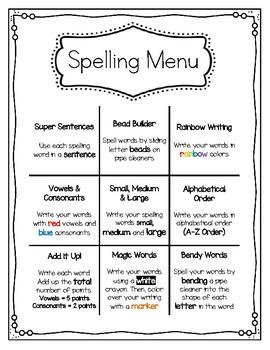 Spelling Menu for Word Works