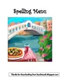 Spelling Menu from Leach's Literacy Training