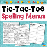 Spelling Choice Boards - Spelling Activities for Any List