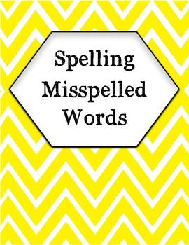 Spelling Misspelled Words Correctly