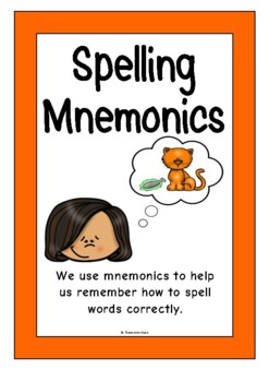 Spelling Mnemonics by Treetop Resources | Teachers Pay Teachers