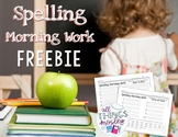 Spelling Morning Work FREEBIE