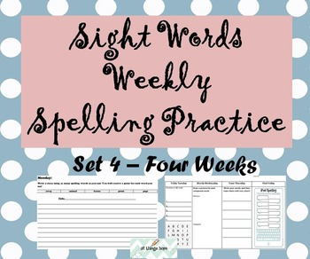 Spelling Morning Work Set 5