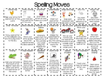 Spelling Moves