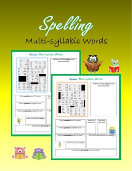 Spelling Multi-syllabic Words (from A to Z)