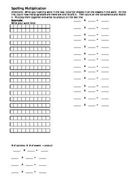 Spelling Multiplication