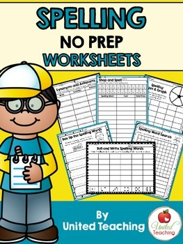 Spelling No Prep Worksheets