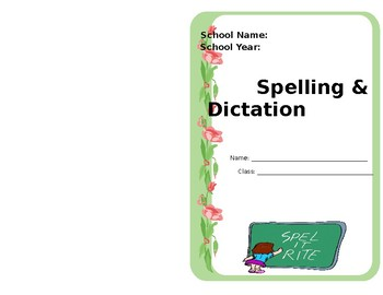 Spelling Notebook Cover