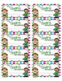 Spelling Notebook Labels