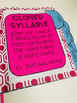 Spelling Notebook Learn to Read and Spell by Syllable Type