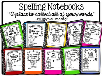 Spelling Notebooks {A place to collect all of your words}