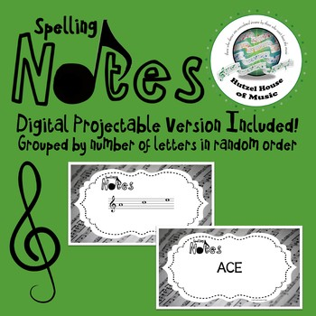 Spelling Notes: 64 Musical Note Spelling Flash Cards