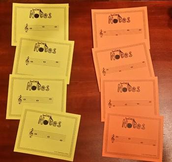 Spelling Notes Sampler: Musical Note Spelling Flash Cards ~ FREEBIE!