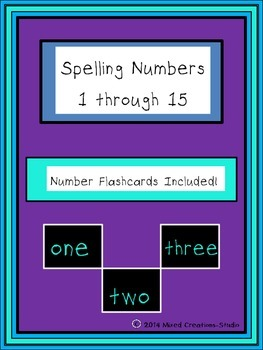 Spelling Numbers 1 through 15