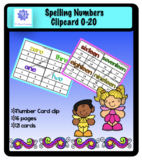 Spelling Numbers Clip cards 0-20