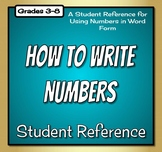 Spelling Numbers Reference