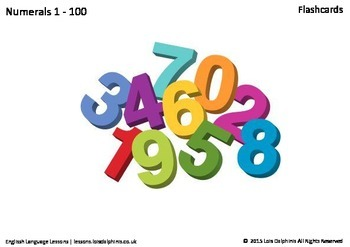 Numerals 1 - 100 Flashcards