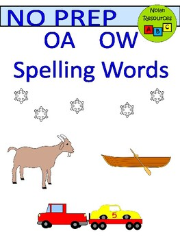 Spelling - OA and OW (long O)