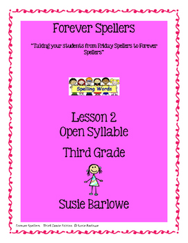 Spelling - Open Syllable - 3rd Grade