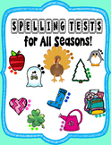 Spelling/ Ortografia Tests for the Year Spanish