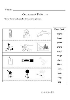 Spelling - PH, GH, CK, NG