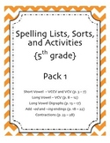 5th Grade Reading Street Spelling Pack Unit 1