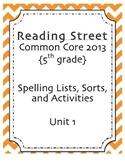 Spelling Pack, Unit 1, 5th Grade Reading Street
