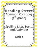 Spelling Pack, Unit 2, 5th Grade Reading Street