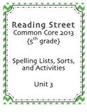 5th Grade Reading Street Spelling Pack Unit 3
