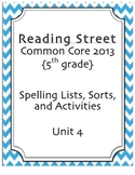 5th Grade Reading Street Spelling Pack Unit 4