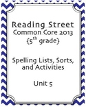 5th Grade Reading Street Spelling Pack Unit 5