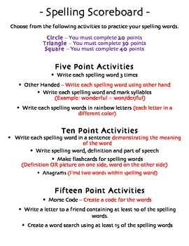 5th Grade Reading Street Spelling Pack Unit 6