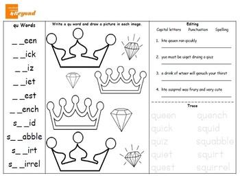 Spelling Package 4 - qu, th, vowels, short vowels, pronouns, ss/zz, ck, wh