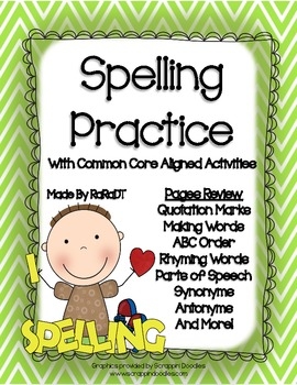 Spelling Packet {Common Core Aligned Activities}