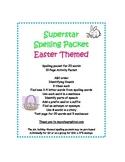 Spelling Packet Easter Superstar